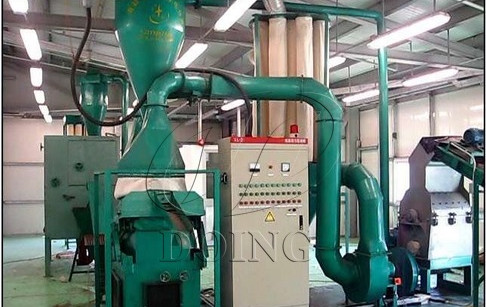 Copper cable wire recycling machine successfully installed in Russia