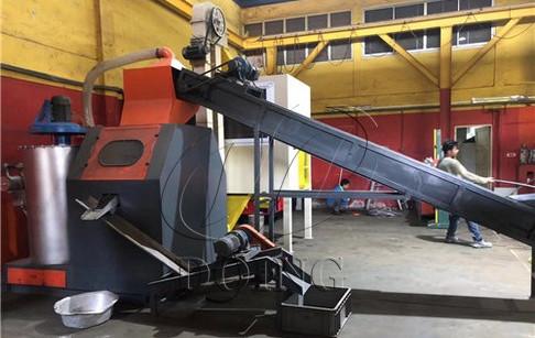 Scrap copper wire granulator machine installed in Singapore