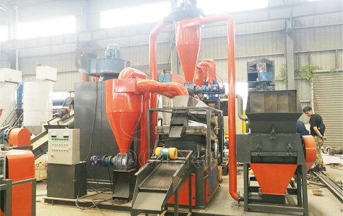 What are the features of dry copper wire recycling machine?