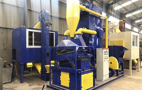 Copper cable granulator running process
