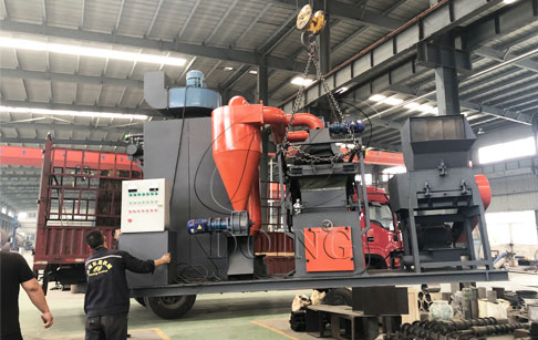 One set small type copper wire recycling machine was ready to be delivered to Hebei, China