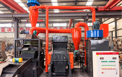 Video shows cable granulator machine separate copper from plastic